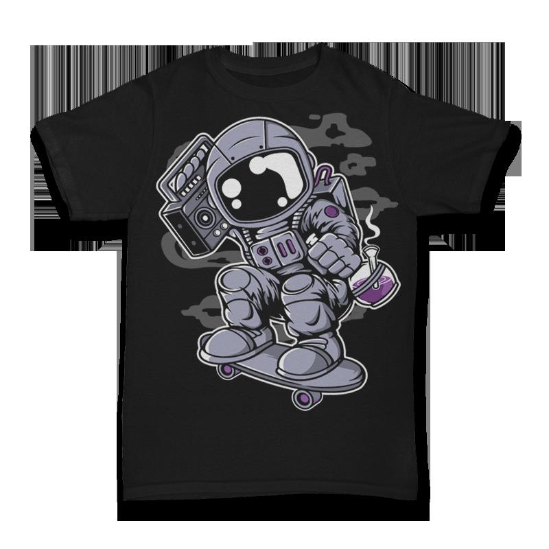 Astroanut Skater Boombox Tshirt