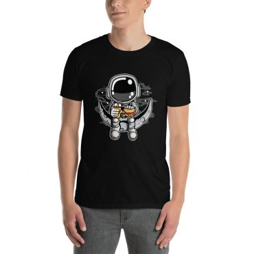 Astronauts uz pusmēness pusdienu pauzē