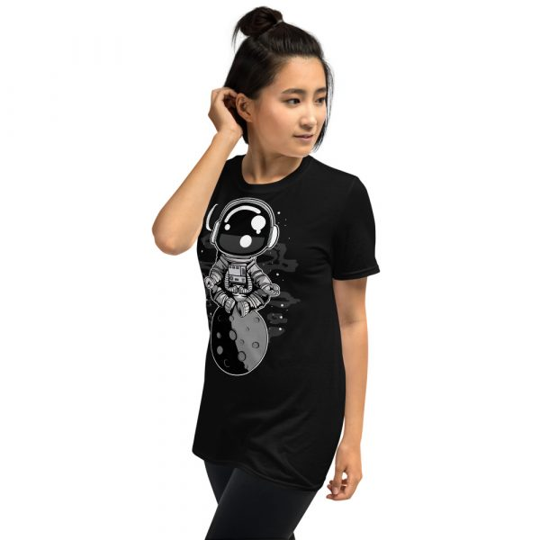 unisex basic softstyle t shirt black left front 60fd8f45146d0