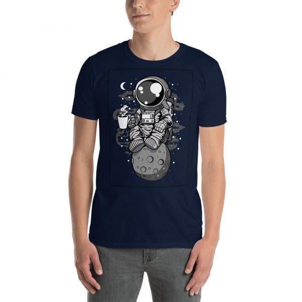 unisex basic softstyle t shirt navy front 60bd283714628