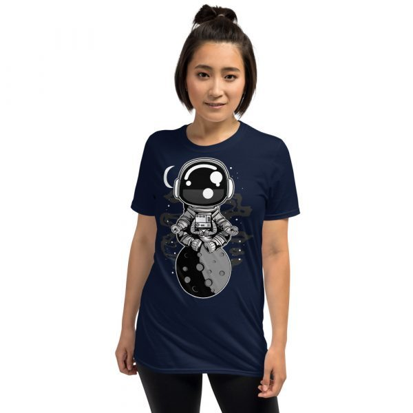 unisex basic softstyle t shirt navy front 60fd8f45148db