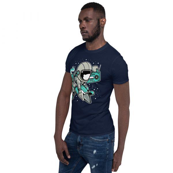 unisex basic softstyle t shirt navy left front 60fd900c9f286